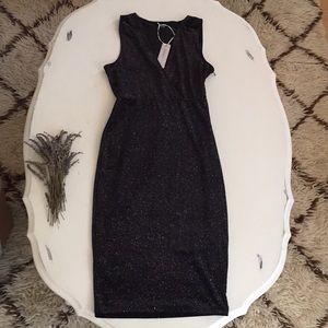 NWT Iris Basic Galaxy Sparkle Bodycon Midi Dress